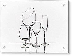 Wineglass Graphic Acrylic Print