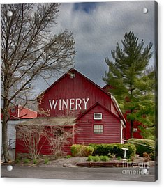 Winery Bucks County  Acrylic Print by Tom Gari Gallery-Three-Photography