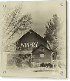 Winery In Sepia Acrylic Print by Tom Gari Gallery-Three-Photography