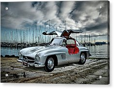Acrylic Print featuring the photograph Winged Merc by Steven Agius