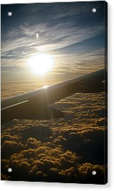 Winged Sun Acrylic Print by Larry Underwood