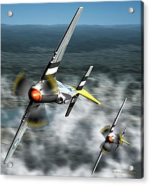 Wingman Acrylic Print by Jim Coe