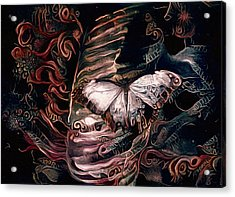 Wings Of The Night Acrylic Print by Susan Maxwell Schmidt