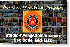 Acrylic Print featuring the photograph Wingsdomain Art And Photography Holiday 2016 Discount Code Grheuz Ends Jan 1 2017 by Wingsdomain Art and Photography
