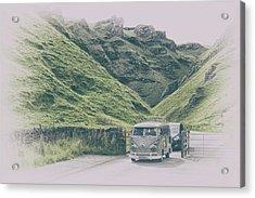 Winnats Pass Camper Acrylic Print