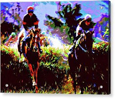 Winners Of The Horse Race Expressionism Acrylic Print