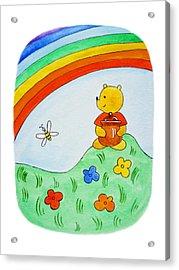 Winnie The Pooh  Acrylic Print by Irina Sztukowski
