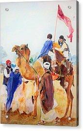 Winning Celebration Acrylic Print by Khalid Saeed