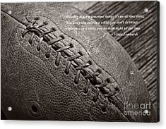 Winning Quote From Vince Lombardi Acrylic Print by Edward Fielding