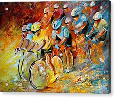 Winning The Tour De France Acrylic Print