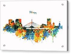 Winnipeg Skyline Acrylic Print by Marian Voicu