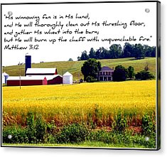 Winnowing Fan Acrylic Print by Elizabeth Babler