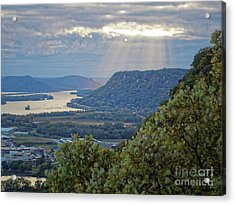 Acrylic Print featuring the photograph Winona Garvin Heights With Sunbeams by Kari Yearous