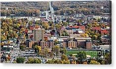 Winona Minnesota With University And Bridge Acrylic Print