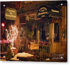 Acrylic Print featuring the photograph Winona Mn Storefront Historic Flower Shop by Kari Yearous