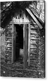 Winslow Log Outhouse Acrylic Print by Curtis J Neeley Jr