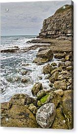 Winspit Cove In Dorset Acrylic Print