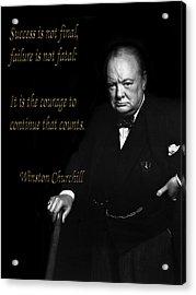Winston Churchill 1 Acrylic Print