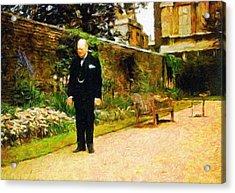 Winston Churchill, 1943 Acrylic Print by Vincent Monozlay