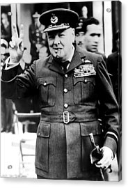 Winston Churchill, 1961 Acrylic Print by Everett