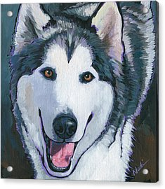 Acrylic Print featuring the painting Winston by Nadi Spencer