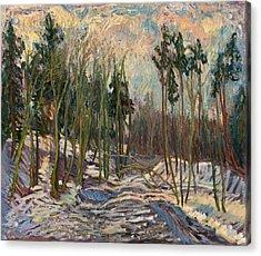 Winter A Acrylic Print by Babelis Vytautas