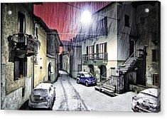 Winter Alley Acrylic Print