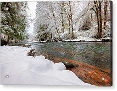 Winter Along Scoggins Creek  Acrylic Print