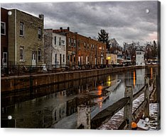 Winter Along The Canal Acrylic Print