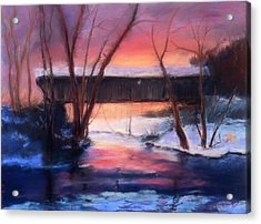 Winter At Bennett's Mill Acrylic Print by Gail Kirtz