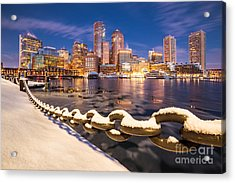 Winter At Boston Fan Pier Acrylic Print