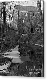 Winter At Cooper Mill Acrylic Print
