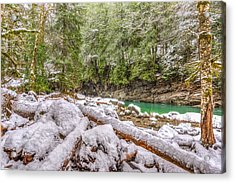 Acrylic Print featuring the photograph Winter At Eagle Falls by Spencer McDonald