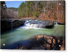 Winter At Haw Creek Falls Acrylic Print