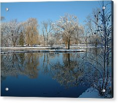 Winter At Hidden Lakes Acrylic Print by Gregory Jeffries