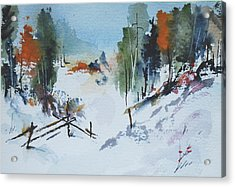 Winter At Marble Farm Acrylic Print by Wilfred McOstrich
