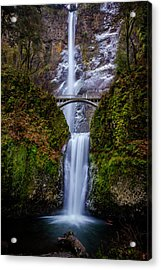 Winter At Multnomah Falls 2 Acrylic Print