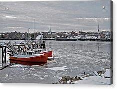 Winter At Newburyport Harbor Acrylic Print