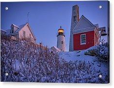 Winter At Pemaquid Point Acrylic Print