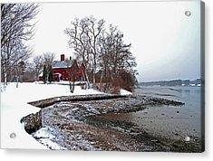 Winter At Perkins House  Acrylic Print