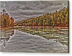 Winter At Pine Lake Acrylic Print
