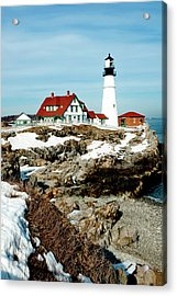 Winter At Portland Head Acrylic Print