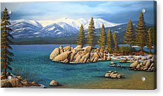 Winter At Sand Harbor Lake Tahoe Acrylic Print