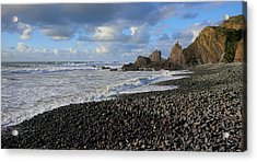 Winter At Sandymouth Acrylic Print