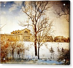 Winter At The Art Museum Acrylic Print by Marty Koch