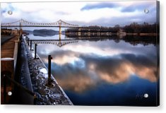 Winter At The Levee Acrylic Print