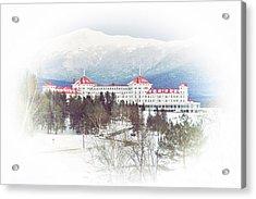 Winter At The Mt Washington Hotel 2 Acrylic Print