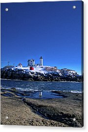 Winter At The Nubble Lighthouse - York - Maine IIi Acrylic Print by Steven Ralser