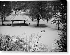 Winter At The Park Acrylic Print by Idaho Scenic Images Linda Lantzy