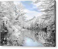 Winter At The Reservoir Acrylic Print by Lori Deiter